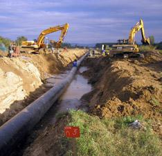 Κατασκευή αγωγού υψηλής παροχής φυσικού αερίου