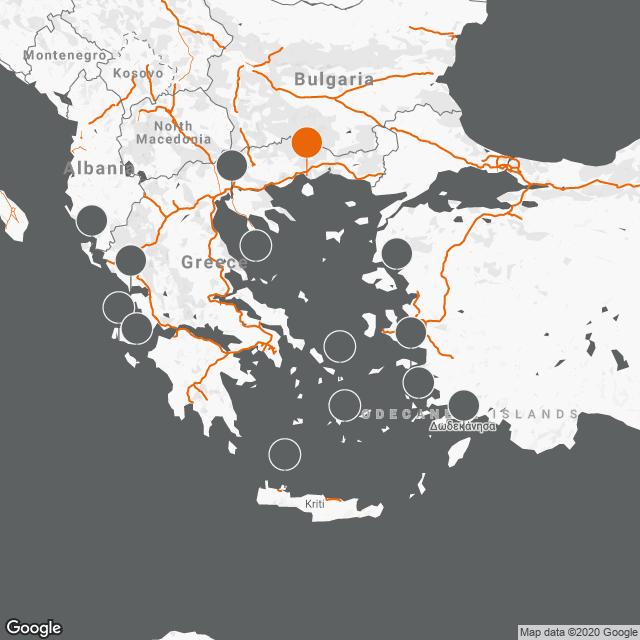 """Kavala National Airport """"Megas Alexandros"""" KVA map"""